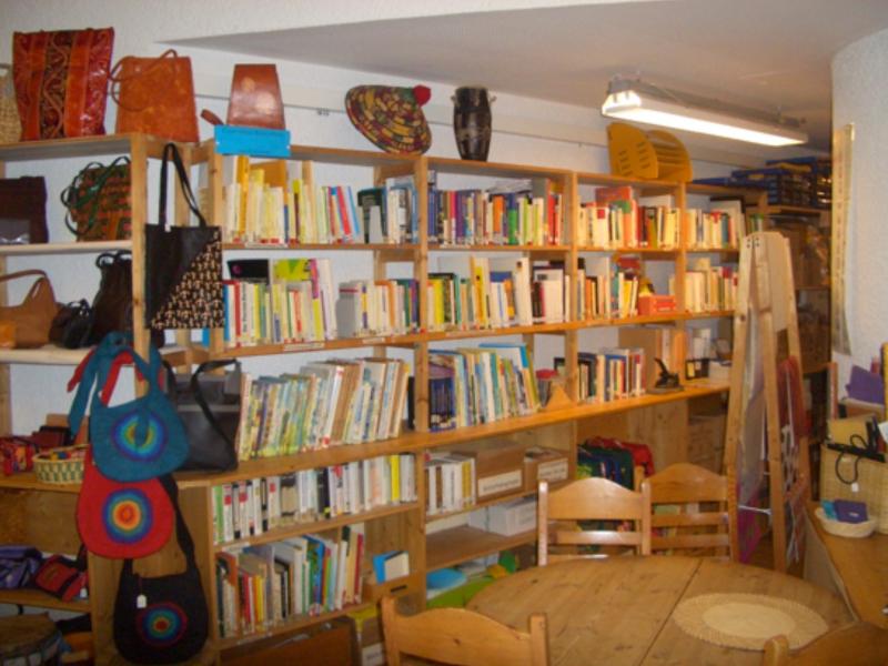 Blick in die Bibliothek