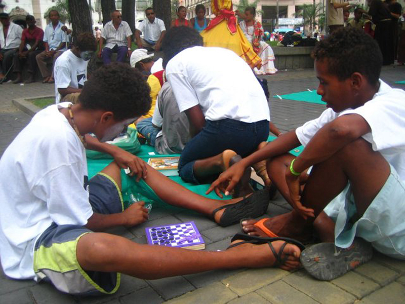 Arbeit mit den Kindern auf der Strasse