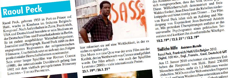 "Retrospektive Raoul Peck im Kino ""Studio 3"""